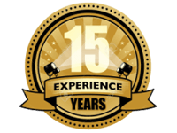 15 years logo